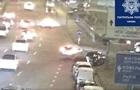 Появилось видео аварии в Киеве со слетевшей с моста Subaru