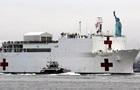 Военный корабль-госпиталь прибыл в Нью-Йорк