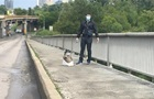 Появилось видео и фото минера киевского моста