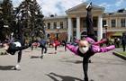 У Києві пройшла акція-тренування гімнасток на вулиці
