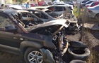 В Харькове на парковке сгорело пять машин
