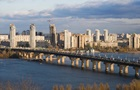 У Києві на мосту Патона утворився  водоспад