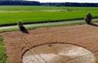 В Венгрии на поле появился загадочный круг