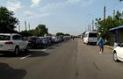 В  ДНР  на пункте пропуска огромные очереди