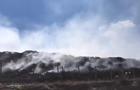 В Северодонецке из-за пожаров загорелась свалка