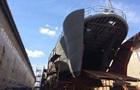 В Николаеве тушат пожар в трюме корабля