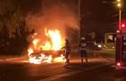 В Днепре сгорели два автомобиля