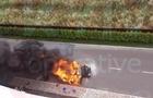 В Киеве во время движения загорелся Mercedes