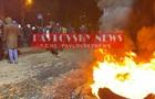 У Києві підпалили шини через дії забудовника