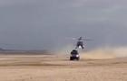 На ралли Дакар вертолет столкнулся с Камазом