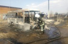 Во Львовской области сгорели три автобуса