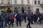 Во Львове прошел антикарантинный протест