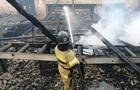 На Черниговщине горел деревообрабатывающий цех