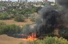 В Киеве возник пожар в парке Совские пруды