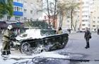 В России на репетиции парада загорелся танк
