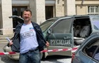 В Ужгороді протестувальник підпалив своє авто