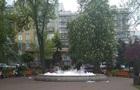 В первый день работы фонтанов в Киеве в один налили мыла