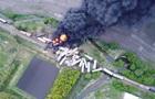В США поезд перевозивший химикаты потерпел крушение