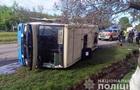 На Рівненщині перекинувся автобус із пасажирами