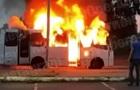 В Киеве на ходу загорелась маршрутка