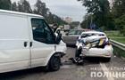 В Киеве произошло ДТП с участием полицейского автомобиля