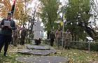 В Киеве открыли памятный крест в честь Бандеры