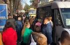 У Запоріжжі після потрапляння в  червону  зону стався транспортний колапс