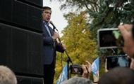 Саакашвили прибыл на митинг под Раду