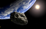 Flies to the Earth asteroid in the shape of a skull