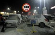 Масштабное ДТП в Киеве: авто загорелось после столкновения