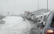 Киев застрял в пробках из-за снегопада