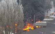 Масштабное ДТП в Киеве: сгорели несколько авто