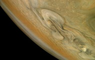 NASA showed a photo of the raging storms on Jupiter