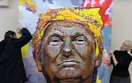 Украинские художники создали портрет Трампа из монет
