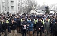 Возле Десятинной церкви в Киеве начался митинг
