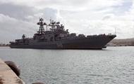 В России загорелся боевой корабль