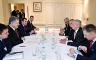Порошенко і Меттіс обговорили антиросійські санкції