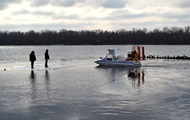 In the Poltava region 50 fishermen were carried away on drifting ice floe