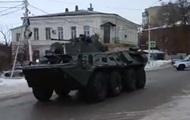 В РФ у границ с Украиной заметили колонну военной техники