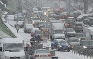 В Киеве сильные пробки из-за снегопада