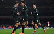Манчестер Сити не испытал проблем в матче с Арсеналом