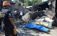 In the Philippines, the plane fell on a residential house