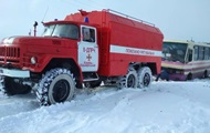 Снегопады в Украине: в Днепре затруднено движение автотранспорта