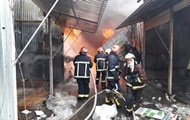 The fire at the market in Chernivtsi: three persons suffered