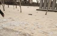 В Одесской области выпал желтый снег