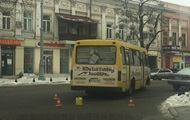 In Odessa from the bus to the fallen woman.