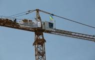 В Киеве активисты захватили строительный кран на Андреевском спуске