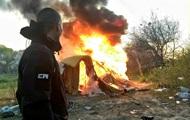 Радикалы заявили о сожжении лагеря ромов в Киеве