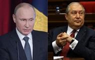 Путін обговорив з президентом Вірменії ситуацію в Єревані