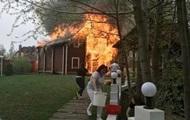 Под Киевом более часа горел ресторанный комплекс